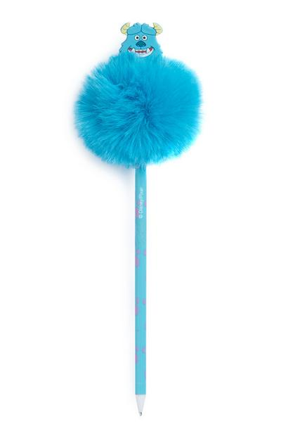 Blue Pixar Sulley Pom Pom Pen
