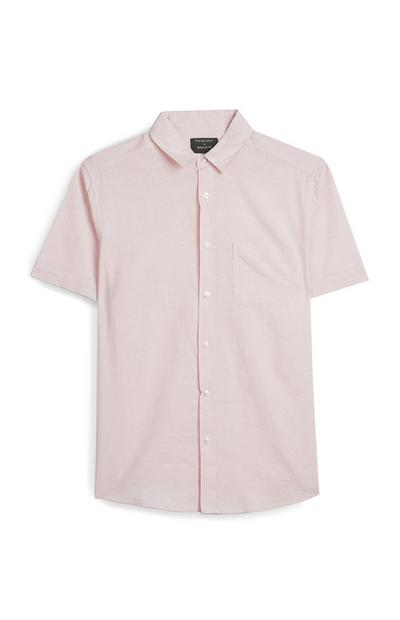 Pink Button Up Short Sleeve Shirt
