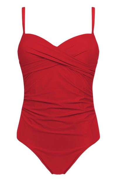 Red Control Twist Swimsuit