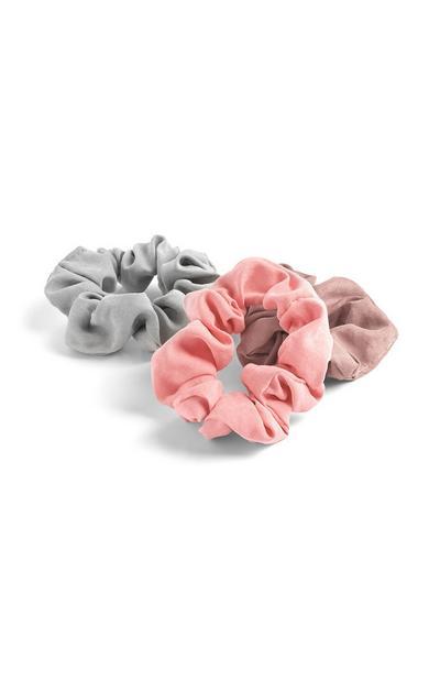 3-Pack Mini Matte Scrunchies