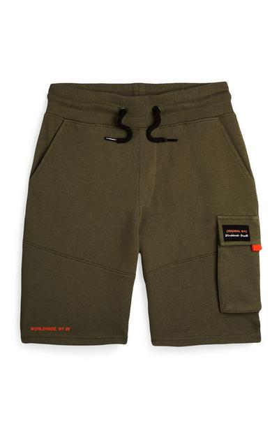 Older Boy Khaki Cargo Pocket Shorts