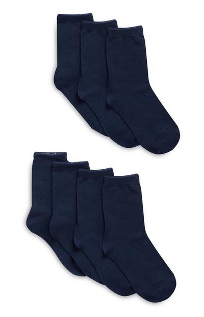Navy Socks 7 Pack