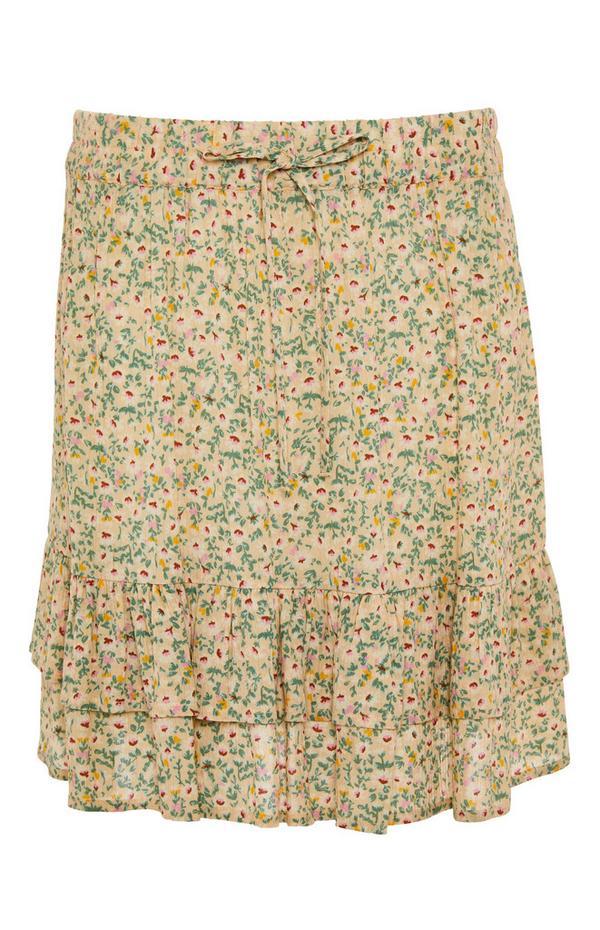 Crinkle Mini Skirt