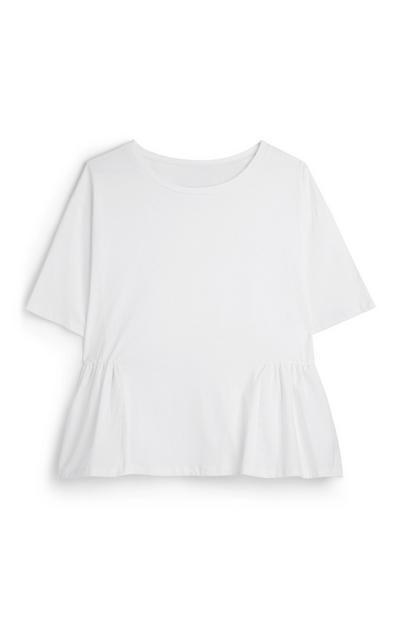 Camicia peplum bianca