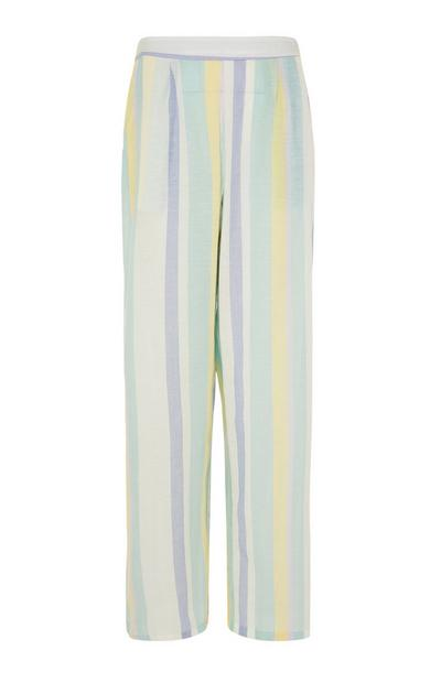 Leggings de pijama de rayas veraniegas en tonos pastel