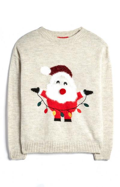 Oatmeal Santa Claus Jumper