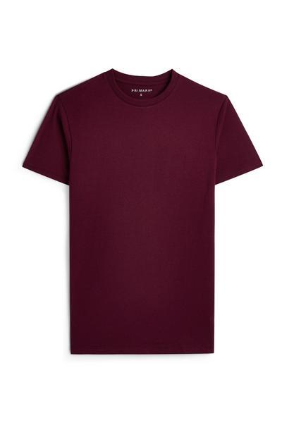 Burgundy Crew T-Shirt