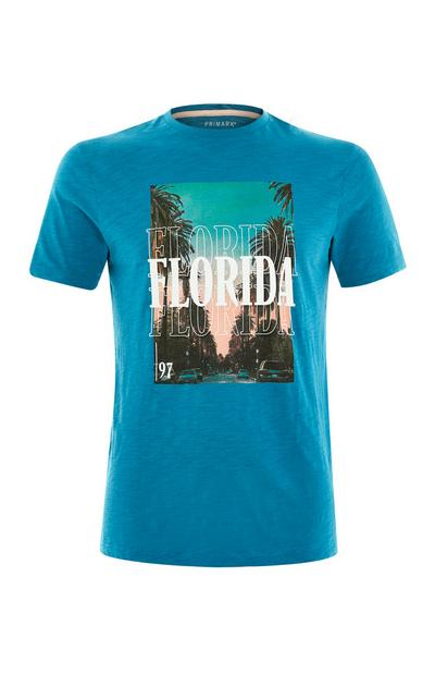Blue Florida Graphic T-Shirt