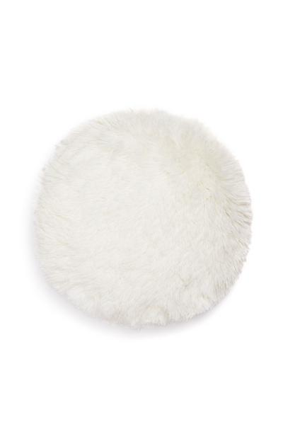 White Pom Pom Circle Cushion