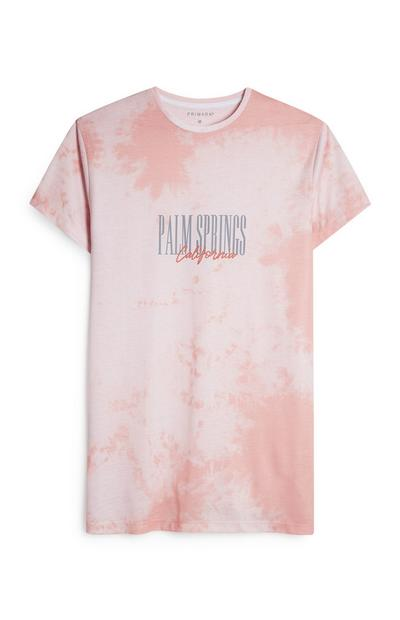 Pink Palm Springs Tie Dye T-Shirt
