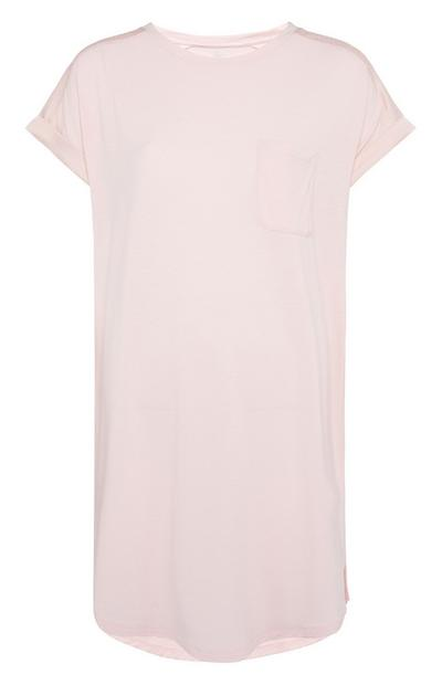 Long Pink Front Pocket T-Shirt