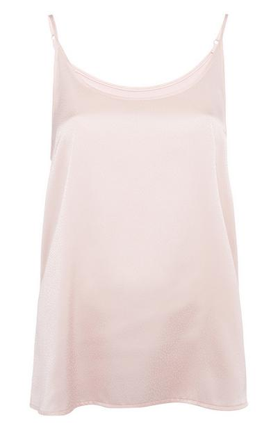 Light Pink Half Satin Top