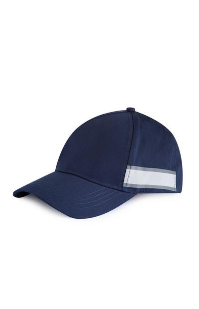Donkerblauwe pet met zijstreep Kem Cetinay