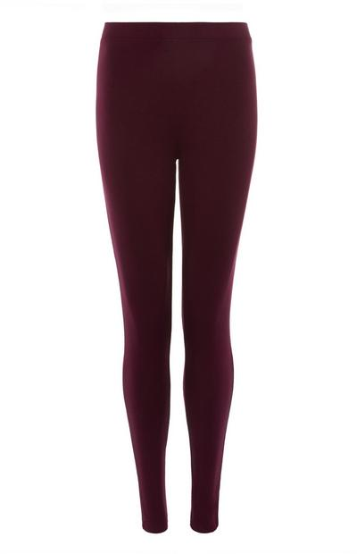 Weinrote, bequeme Leggings