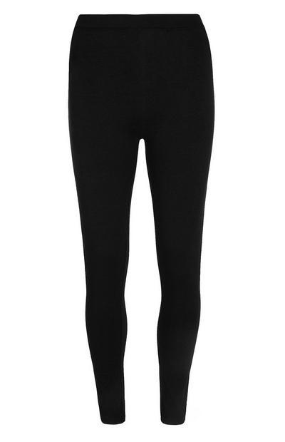 Schwarze Leggings aus Baumwolle