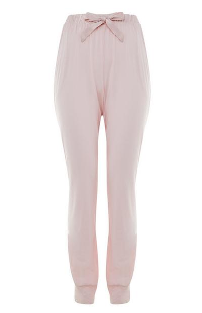 Pink Cuffed Ankle Joggers