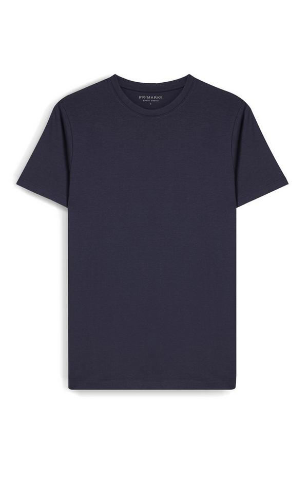 T-shirt blu navy slim fit a maniche corte