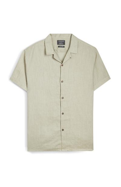 Stone Short Sleeve Button Up Shirt