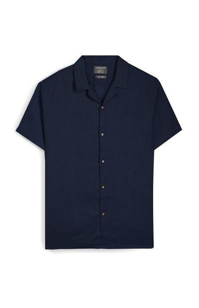 Navy Relaxed Fit Short Sleeve Shirt