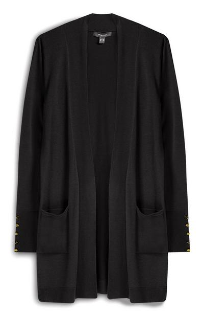 Black Formal Cardigan