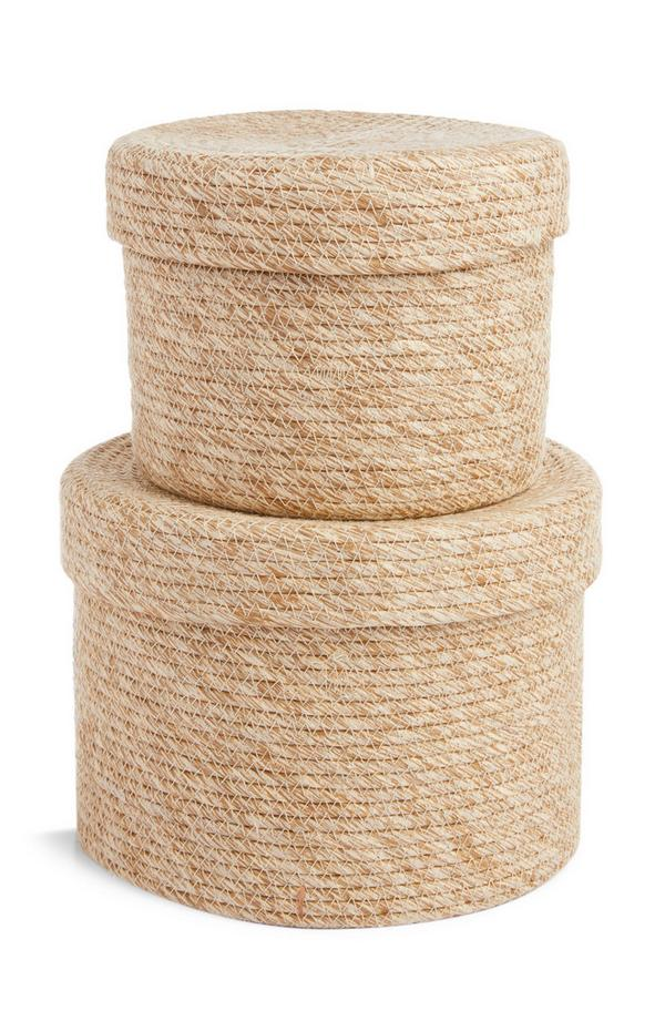 2-Pack Well Natural Baskets