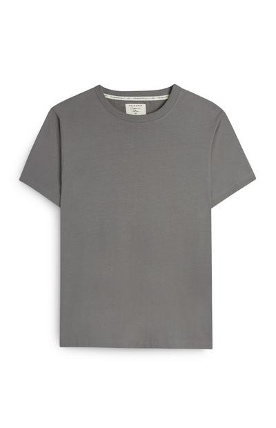 T-shirt gris en coton