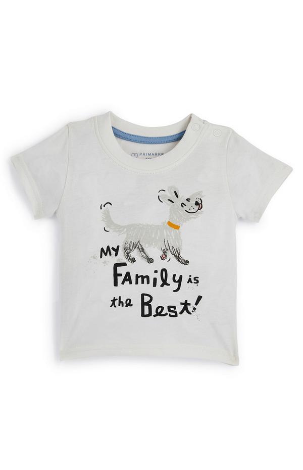 "Graues ""Family"" T-Shirt für Babys (J)"