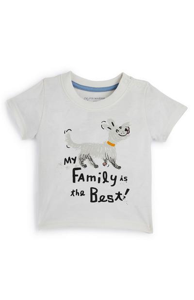 Grijs baby-T-shirt Family voor jongens