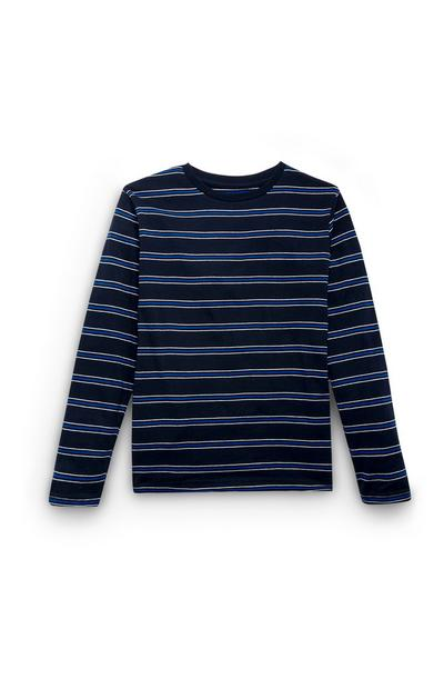 Boys Blue Stripe Sweater
