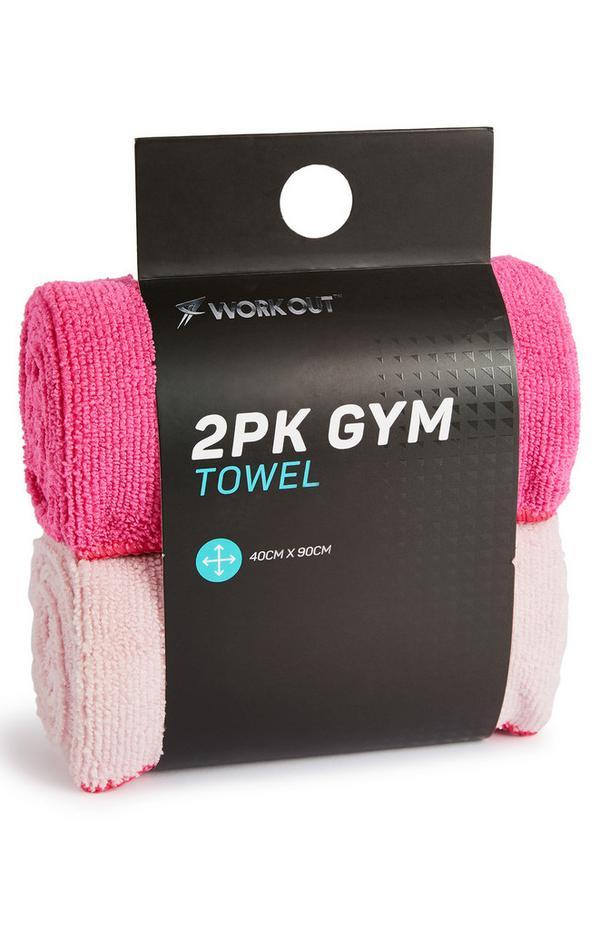 Rosa Workout-Handtücher, 2er-Pack