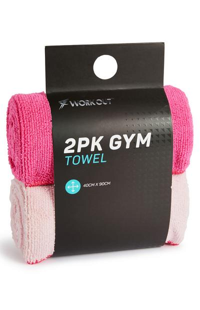 Workout Pink Gym Towels 2 Pack