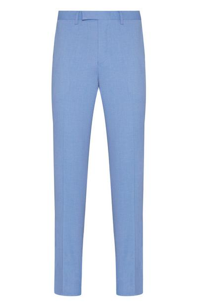 Light Blue Formal Linen Trousers