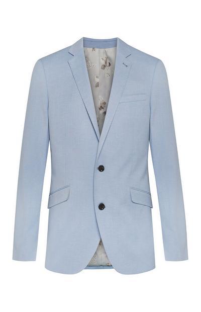 Hemelsblauw linnen herencolbert