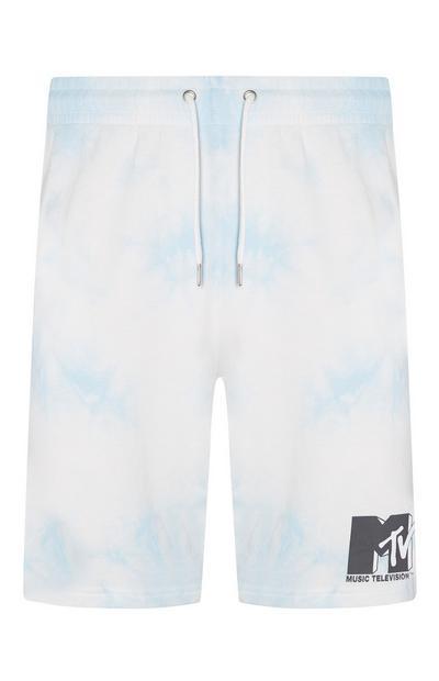 Pantalones cortos de chándal con logo de MTV y estampado tie-dye