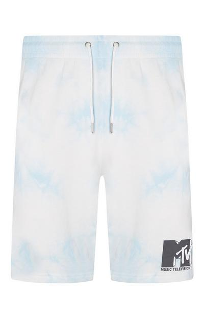 MTV Logo Tie Dye Jogger Shorts