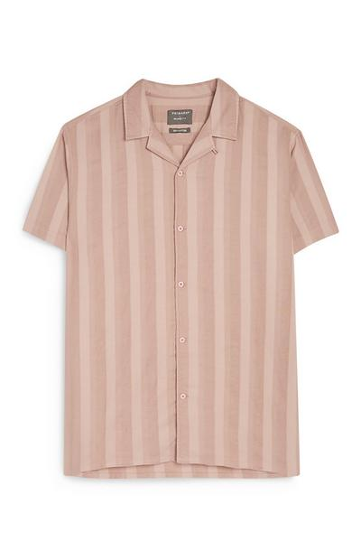 Kem Cetinay Stripe Button Up Sand Shirt