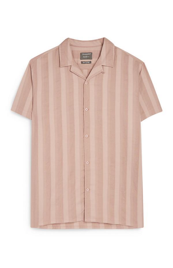 Črtasta bela srajca z gumbi Kem Cetinay