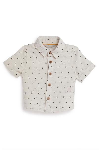 Baby Boy White Star Print Shirt