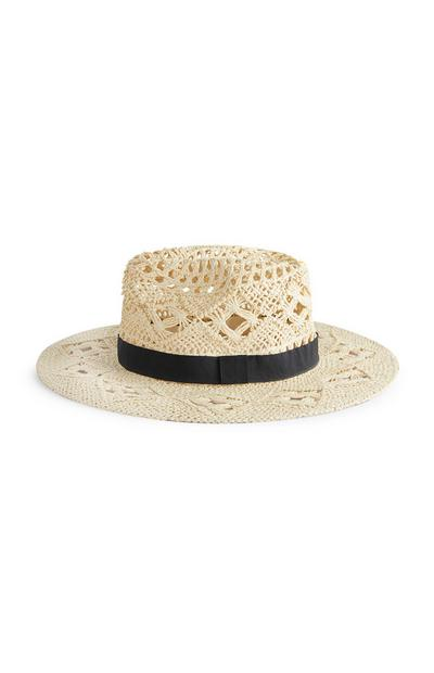 Natural Open Weave Fedora