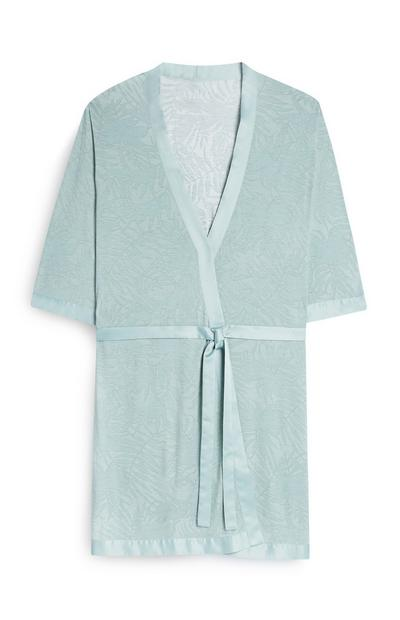 Duck Egg Leaf Print Robe