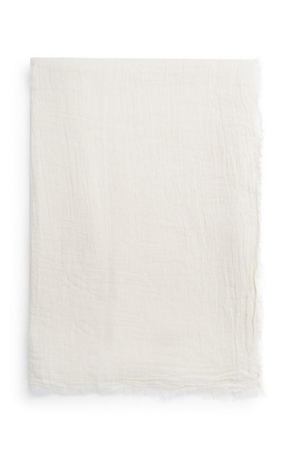Foulard extra long ivoire