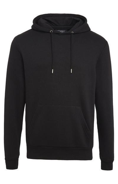 Camisola capuz básico preto