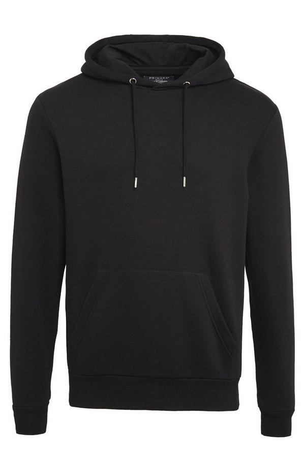 Basic zwarte hoodie