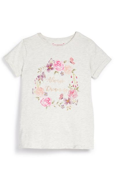 Older Girl Floral Always Dreaming Print T-Shirt