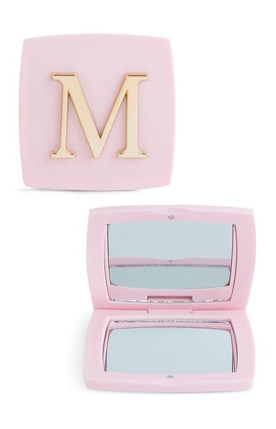 Pink M Initial Compact Mirror