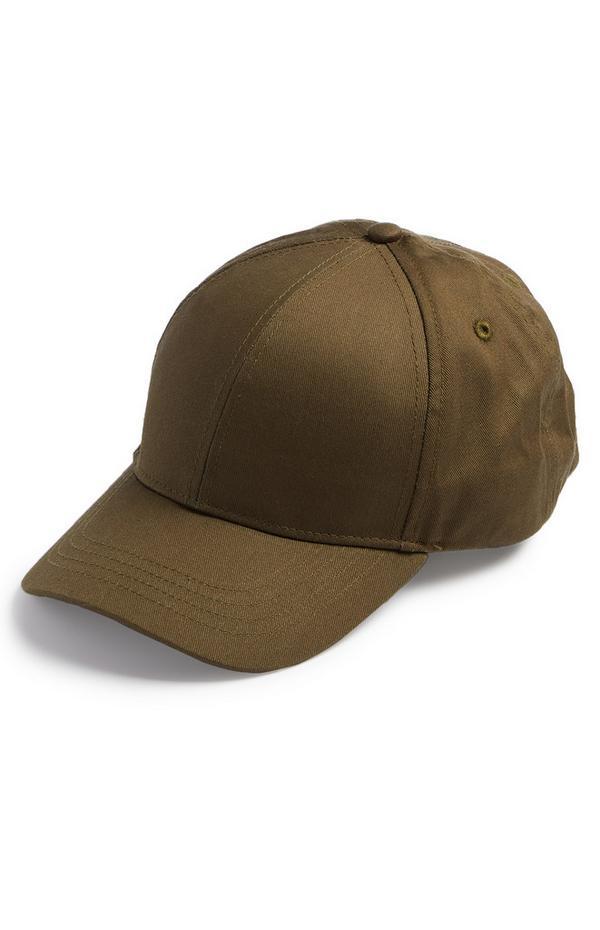 Cappellino da baseball marrone a tinta unita
