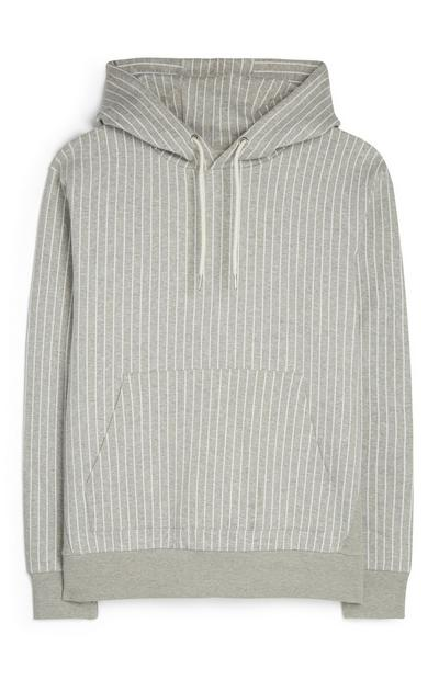 Kem Cetinay Gray Pin Striped Hoodie