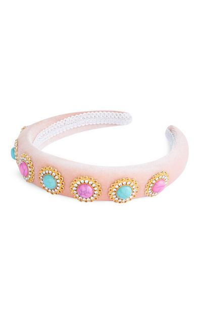 Pink Embellished Headband