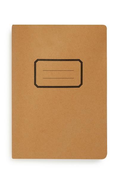 Bruin notitieboekje