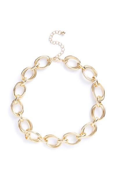 Gold Large Double Link Necklace